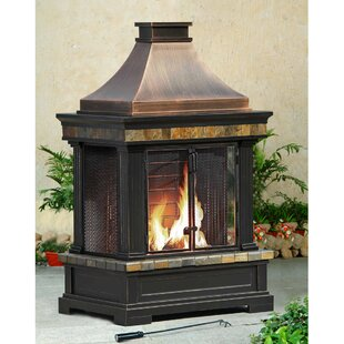 Sunjoy Brownston Steel Wood Burning Outdo..