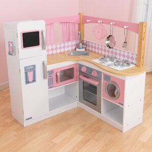 Pink Play Kitchen Set play kitchen sets & accessories | wayfair