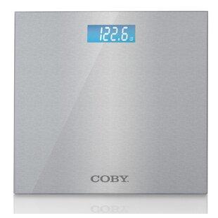 0959eec4c7b COBY Brushed Metal Bathroom Digital Scale