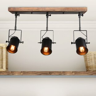 LNC Home Wood Spotlight 3-Light Track Kit