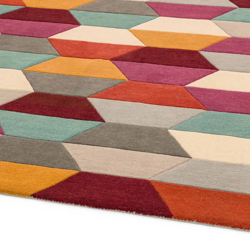 17 Stories Caladendra Hand Tufted Wool
