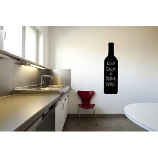 Keep Calm And Drink Wine Bottle Wall Decal
