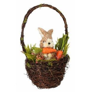 Sisal Bunny in a Wall Basket with Carrot by Regency International
