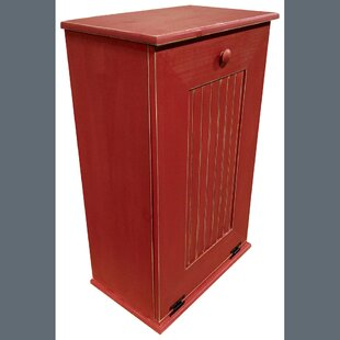 Manual Solid Wood Cabinet Trash Can