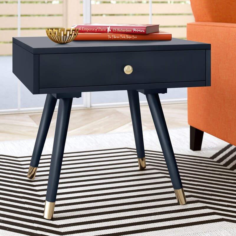 Acton End Table With Storage Reviews Allmodern