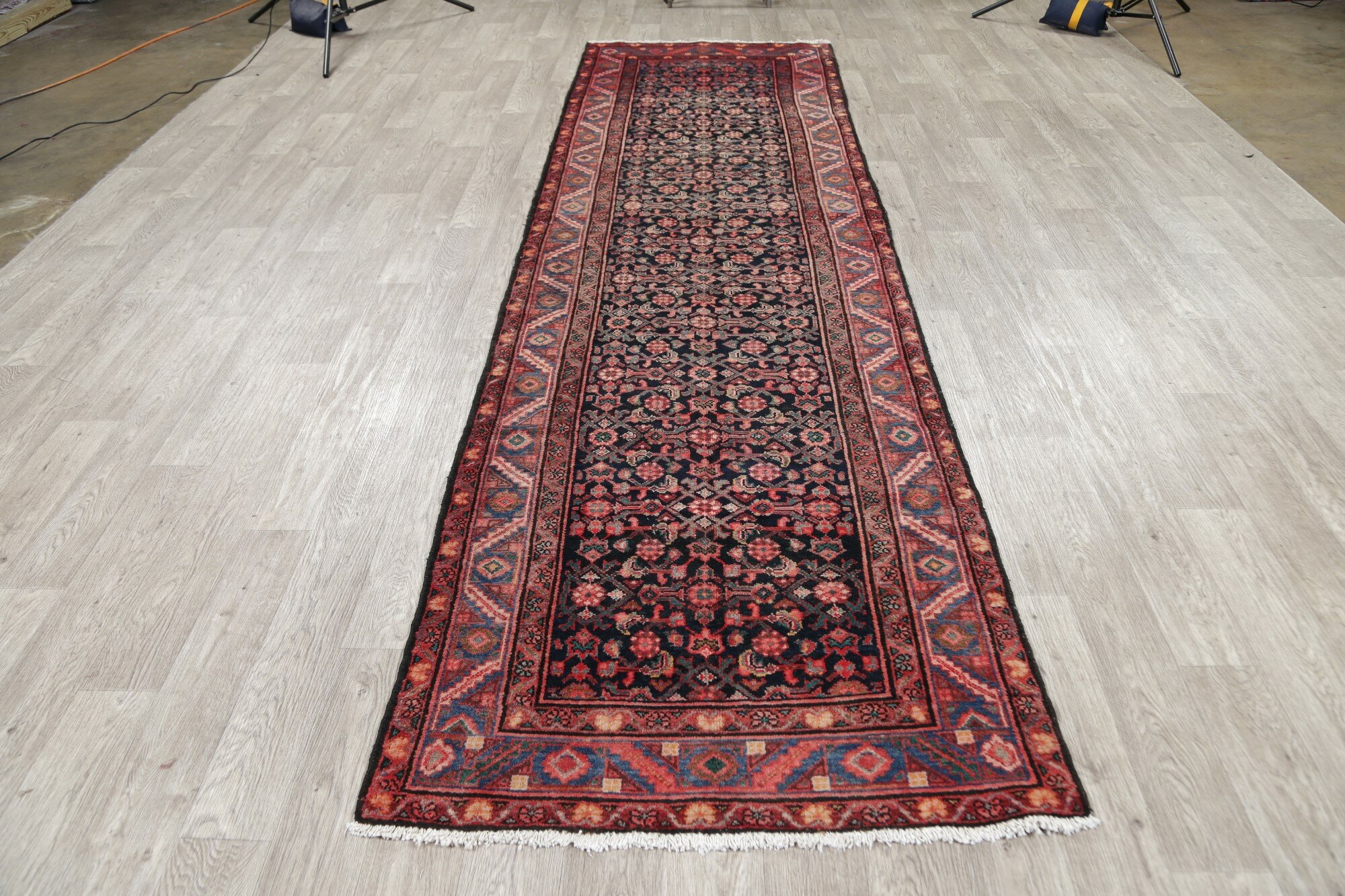 Bloomsbury Market One Of A Kind Conley Hand Knotted Red 3 7 X 12 8 Runner Wool Area Rug Wayfair Ca