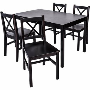 Dennie 5 Piece Solid Wood Dining Set