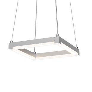 Orren Ellis Poythress LED Metal Square/Rectangle Pendant