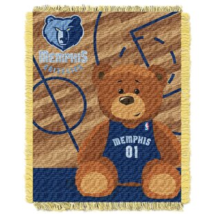 NBA Grizzles Half Court Baby Blanket By Northwest Co.