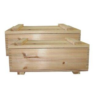 Online Reviews Storage Solid Wood Boxes (Set of 2) By Loon Peak