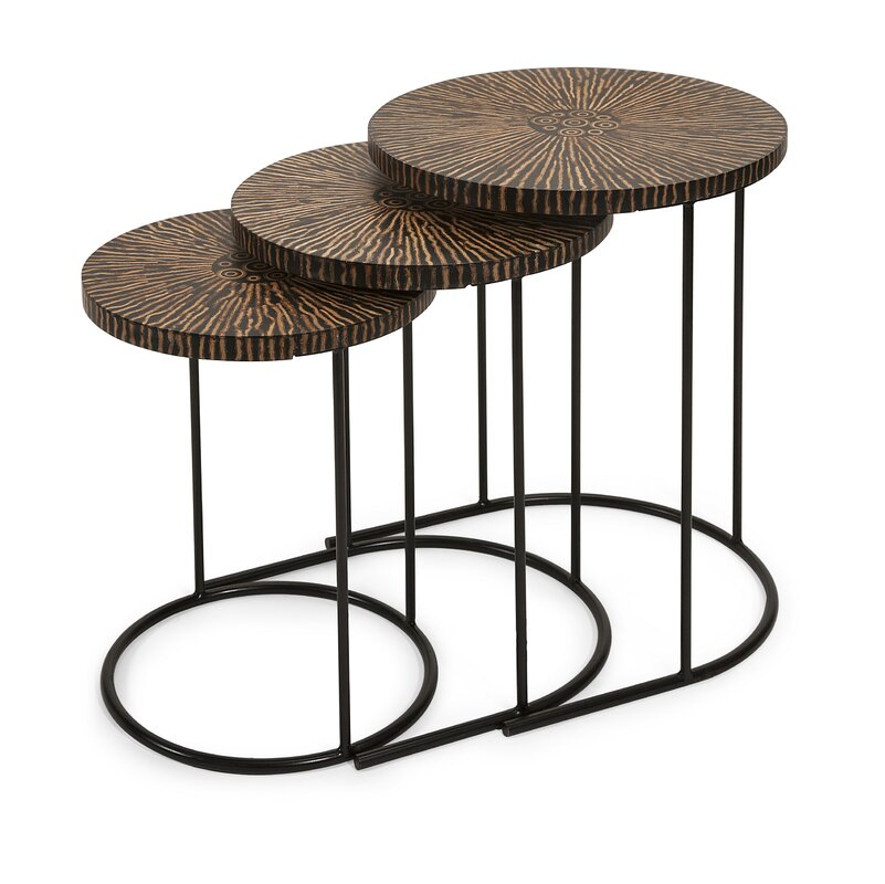 Foundry Select Asro Coco 3 Piece Nesting Table