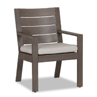 Laguna Stacking Patio Dining Chair with Cushion Sunset West