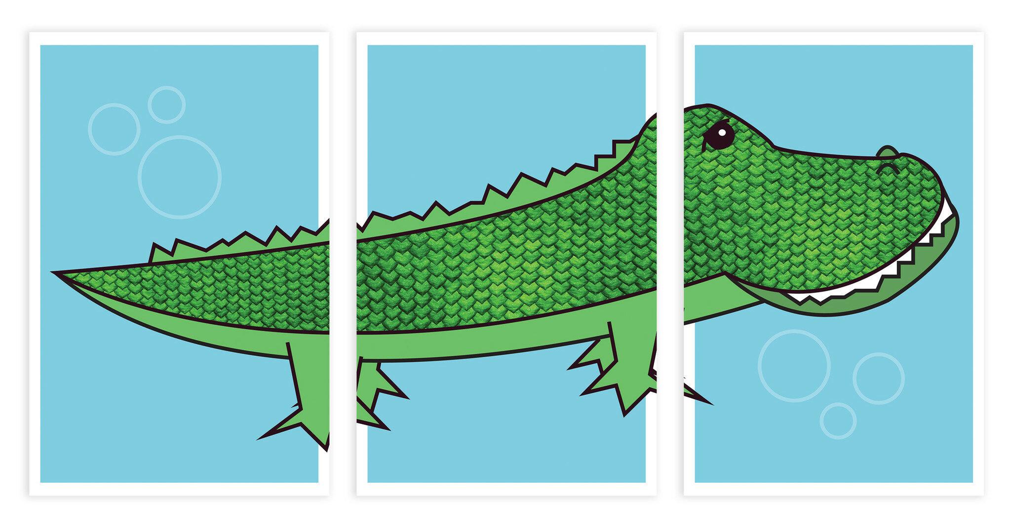 Children Inspire Design Alligator Paper Print Set Of 3 Wayfair