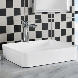 Swiss Madison Concorde Ceramic Rectangular Vessel Bathroom Sink