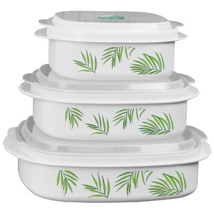 Bamboo Leaf Microwave Cookware 3 Container Food Storage Set