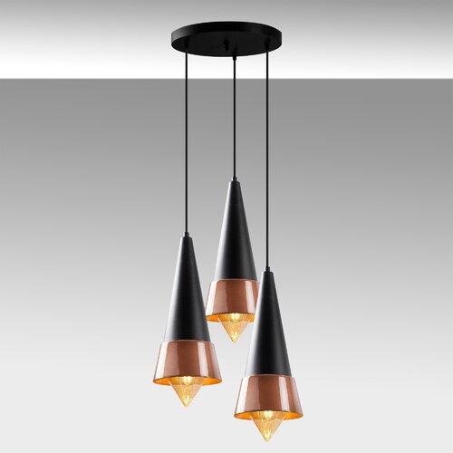 Kennebec 3 - Light Cluster Cone Pendant Latitude Run