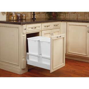 Rev-A-Shelf Double 38.75 Gallon Tandem Pullout Trash Cans