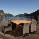 Canaday International Home Outdoor 9 Piece Dining Set with Cushions