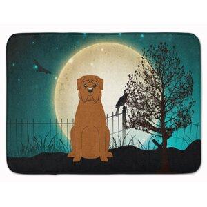 Halloween Scary Dogue de Bourdeaux Memory Foam Bath Rug