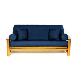 Jean Box Cushion Futon Slipcover by Li..