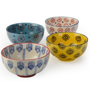 Fernada 4 Piece 23 oz. Rice Bowl Set