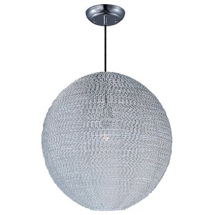 Hoover 1-Light Globe Pendant by Bungalow Rose
