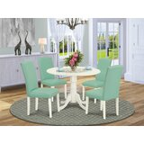 Robbin 5 Piece Drop Leaf Rubber Solid Wood Dining Set by Alcott Hill®