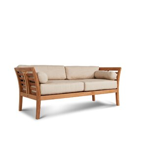 Fleischer Teak Patio Sofa with Sunbrella Cushions by Bloomsbury Market