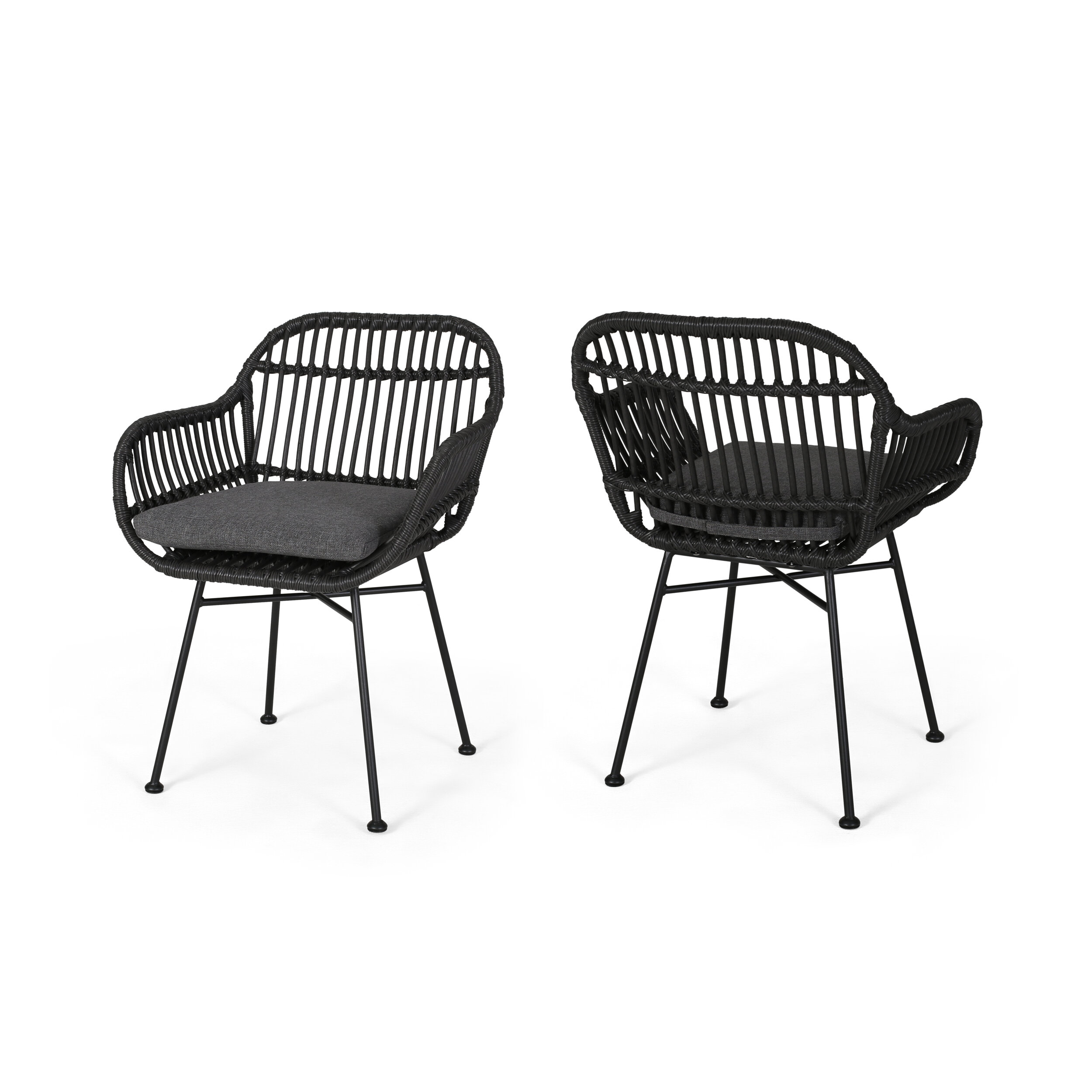 Maspeth Outdoor Woven Patio Chair With