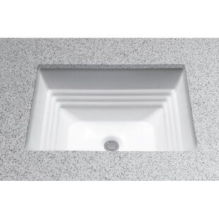 Toto Promenade Vitreous China Rectangular Undermount Bathroom Sink with Overflow