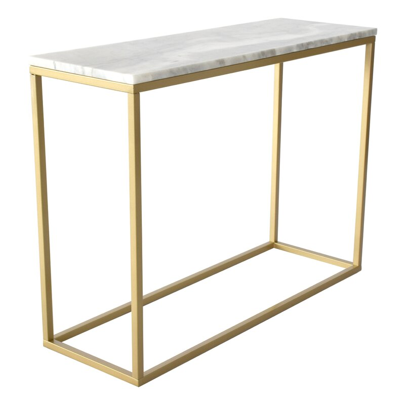 Marble Rectangular Console Table