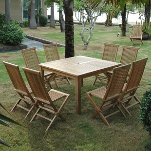 Classic 9 Piece Teak Dining Set