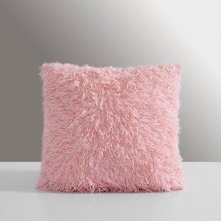 Carrol Feather Faux Fur Throw Pillow (Set of 2)