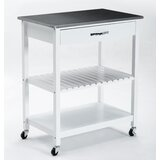 Fast Forward Kitchen Cart with Stainless Steel Top by Ebern Designs