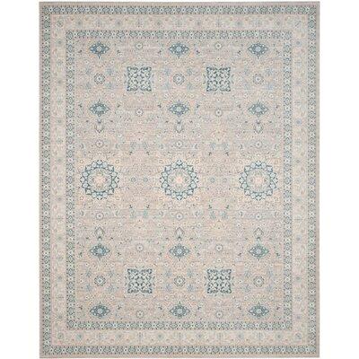 Bertille Gray/Blue Area Rug Lark Manor Rug Size: Rectangle 8' x 10'