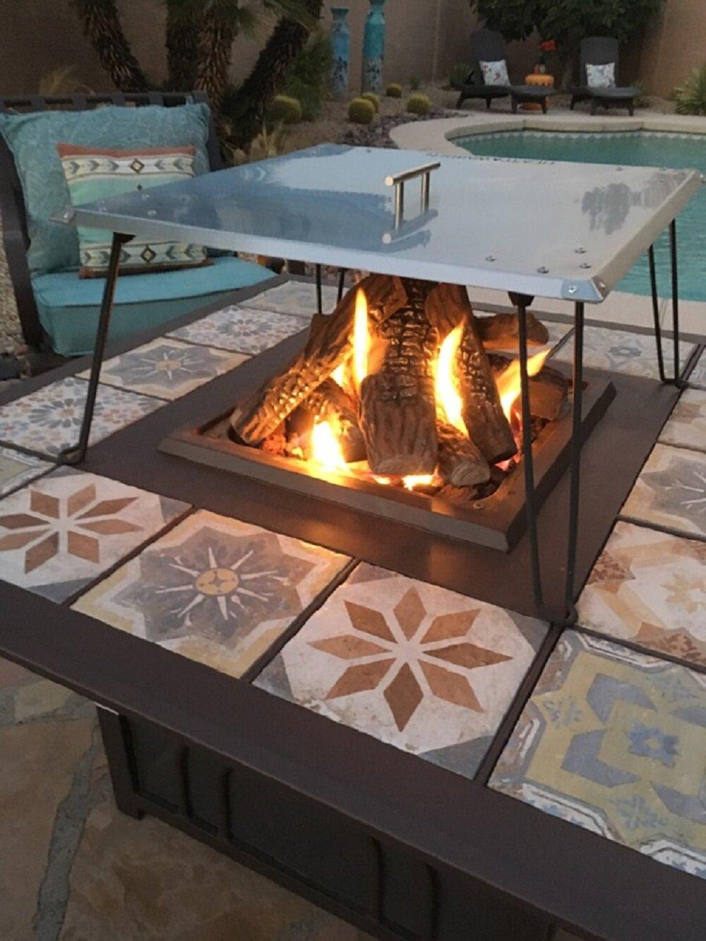 Az Patio Heaters Heatt Warden Fire Pit Heat Deflector Reviews Wayfair