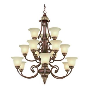Dolan Designs Bonita 15-Light Shaded Chandelier