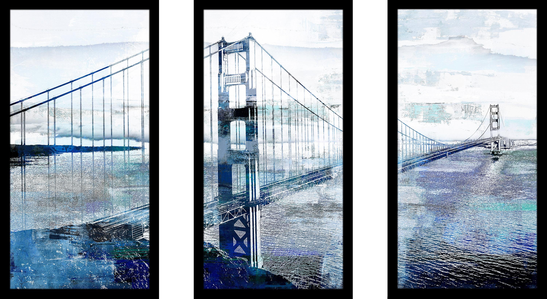 Latitude Run Golden Gate Bridge 1 Framed Graphic Art On
