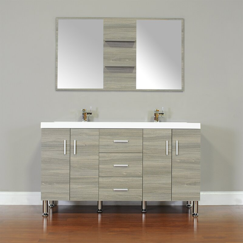 Default nameWade Logan Waldwick 56  Double Modern Bathroom Vanity Set with  . Modern Bathroom Vanities Ft Lauderdale. Home Design Ideas