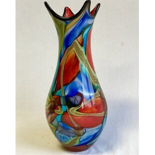 matney multi colored glass table vase - Colored Glass Vases