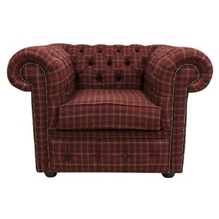 Farheen Arnold Wool Tweed Low-Back Chair By Rosalind Wheeler