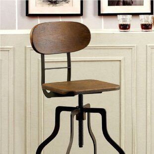 Javion Adjustable Height Swivel Bar Stool 17 Stories