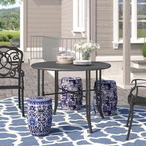 Doric Iron 39 Round Patio Dining Table