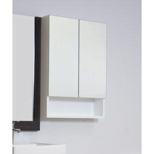 Surface Mount Framed 2 Door Medicine Cabinet with 2 Adjustable Shelves by American Imaginations