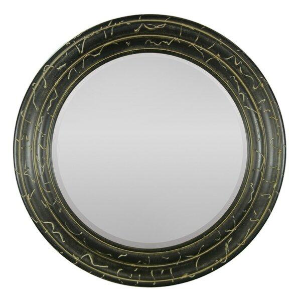 Round Wood Framed Mirror Wayfair