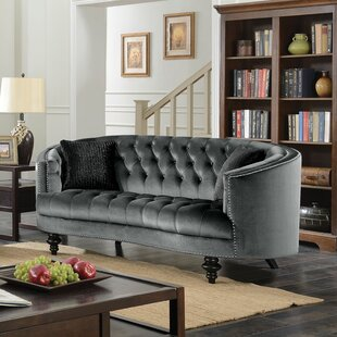 Treshon Chesterfield Loveseat by Everly Quinn Cheap