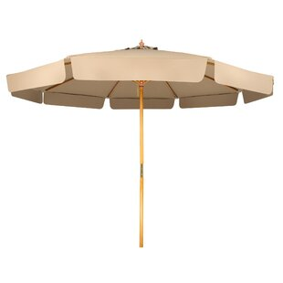 Grund Patio Wood Frame with Scalloped Edge 9' Market Umbrella by Winston Porter