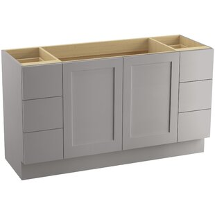 Poplin? 60 Vanity with Toe Kick, 2 Doors and 6 Drawers by Kohler