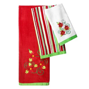 Santa 3 Piece 100% Cotton Towel Set