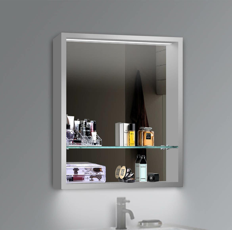 Orren Ellis Chenery 24 X 30 Recessed Or Surface Mount Framed Medicine Cabinet With 2 Adjustable Shelves And Led Lighting Wayfair